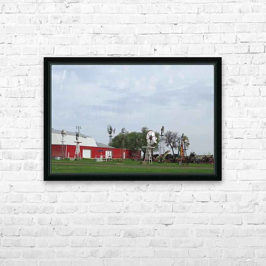 Windmills in Elk City, OK HD Sublimation Metal print with Decorating Float Frame (BOX)