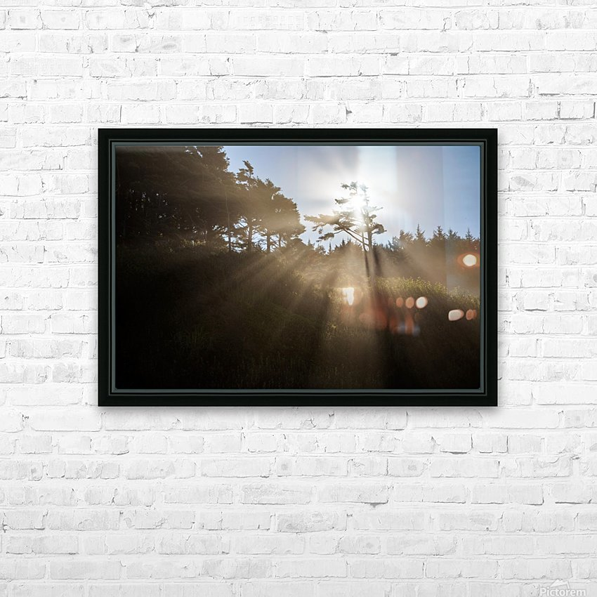 Sun Rays HD Sublimation Metal print with Decorating Float Frame (BOX)