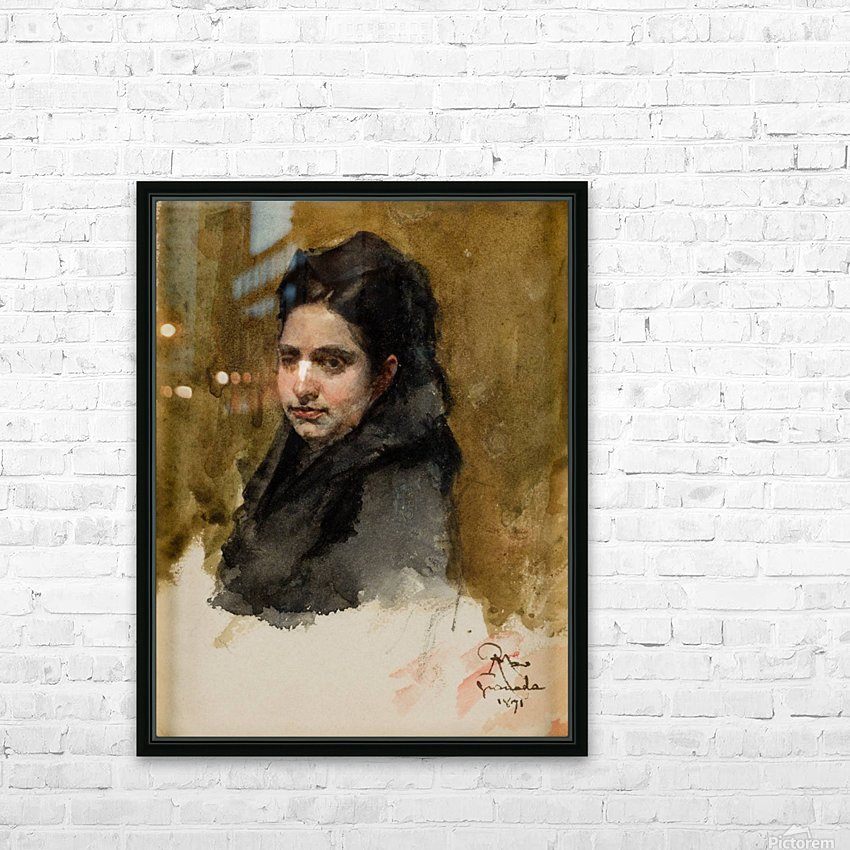 A young Oriental woman HD Sublimation Metal print with Decorating Float Frame (BOX)