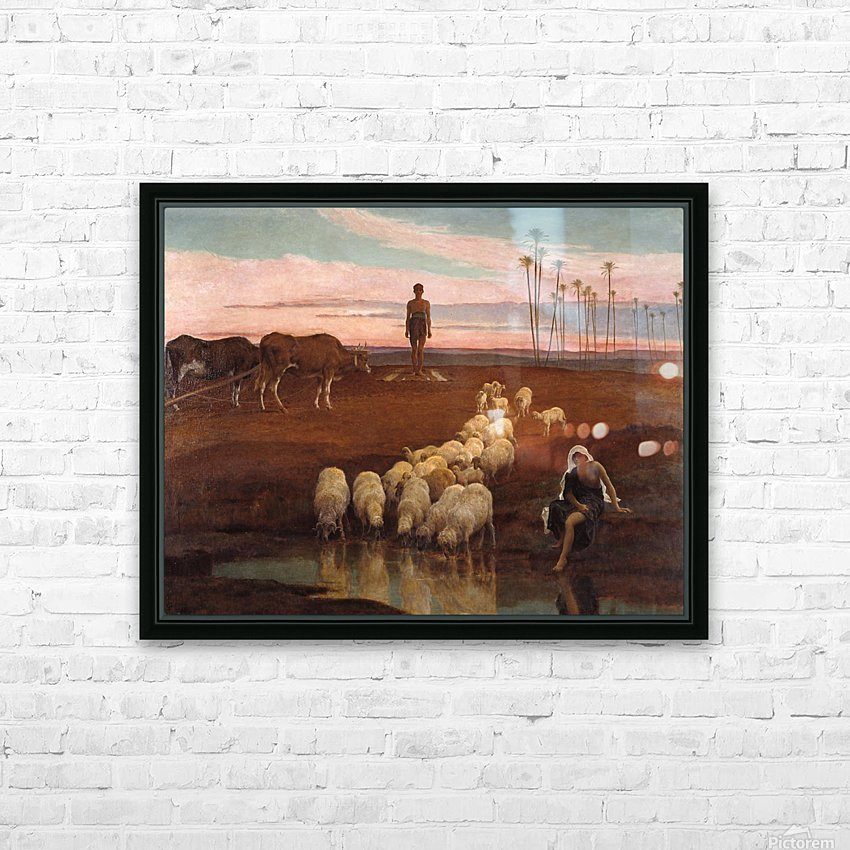 The Ploughman and the Shepherdess HD Sublimation Metal print with Decorating Float Frame (BOX)