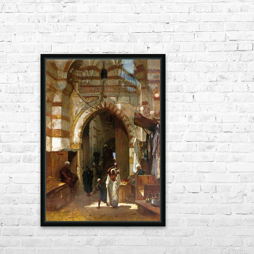 The Grand Bazaar HD Sublimation Metal print with Decorating Float Frame (BOX)