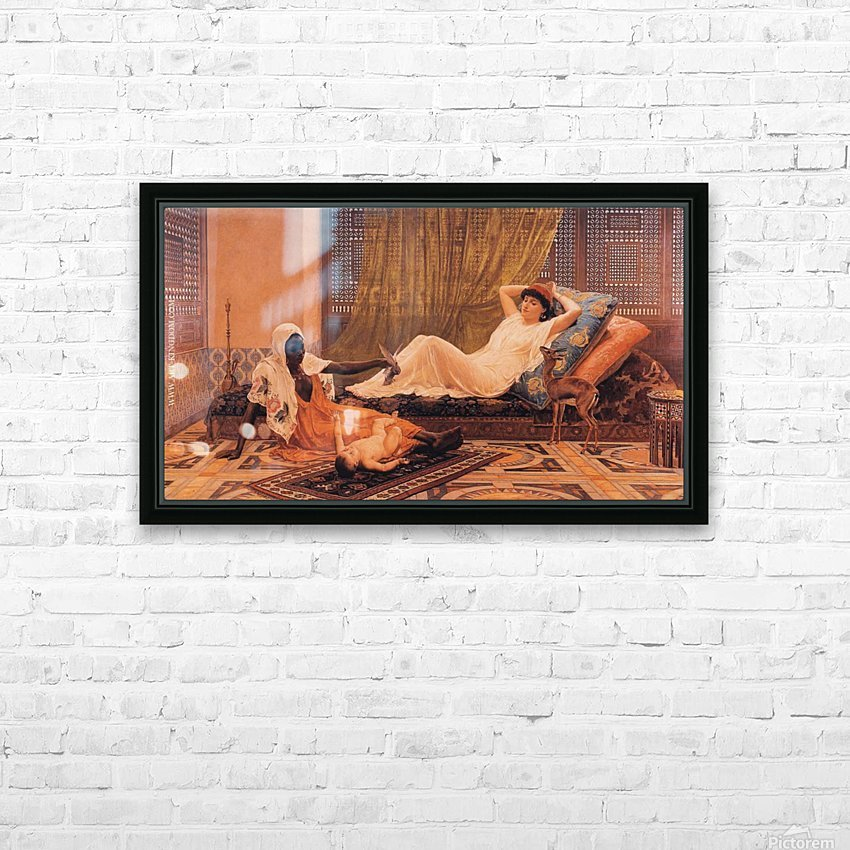 A woman and her nanny taking care of the baby HD Sublimation Metal print with Decorating Float Frame (BOX)
