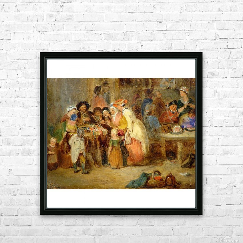 Antique oil painting HD Sublimation Metal print with Decorating Float Frame (BOX)