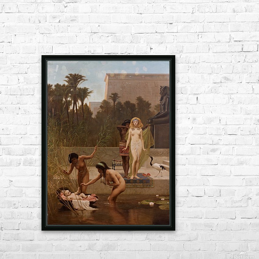 The Finding of Moses HD Sublimation Metal print with Decorating Float Frame (BOX)