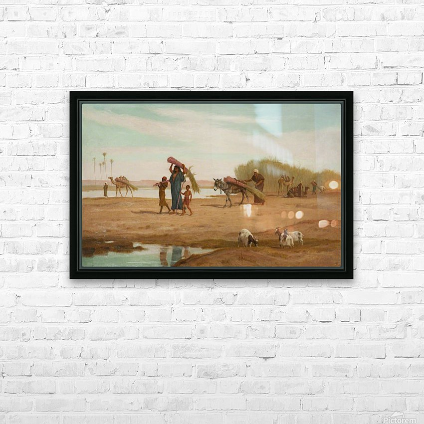 Getting in the Sugar Cane, River Nile HD Sublimation Metal print with Decorating Float Frame (BOX)