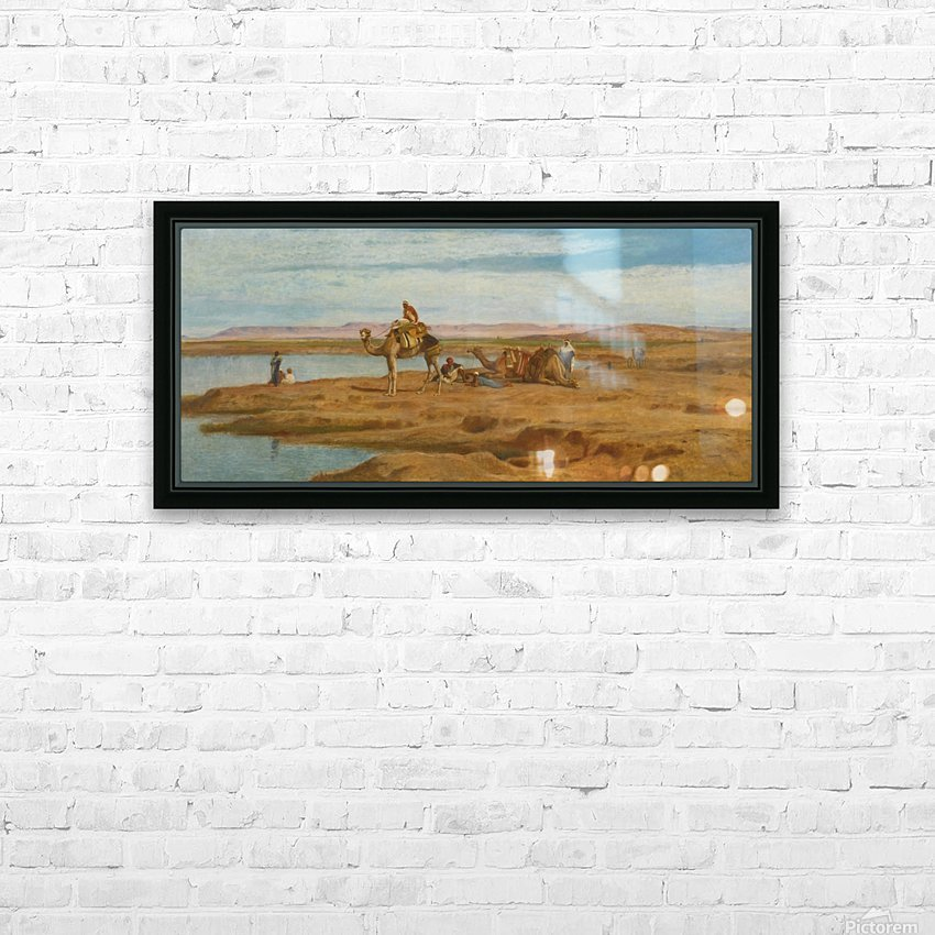 Lots of people by the Oasis HD Sublimation Metal print with Decorating Float Frame (BOX)