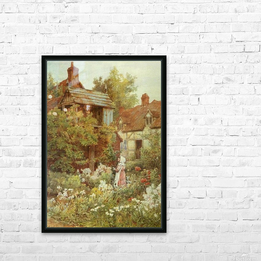 A young girl starring by the house HD Sublimation Metal print with Decorating Float Frame (BOX)