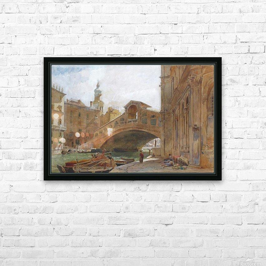 Landscape near a bridge HD Sublimation Metal print with Decorating Float Frame (BOX)