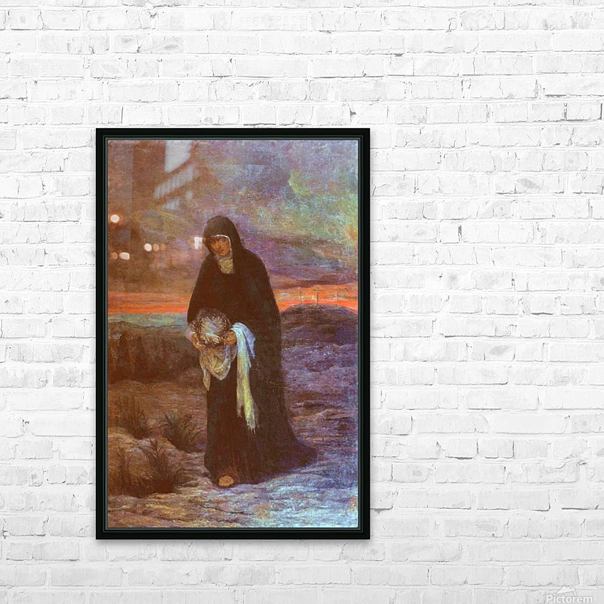 The sorrows of Mother Mary HD Sublimation Metal print with Decorating Float Frame (BOX)
