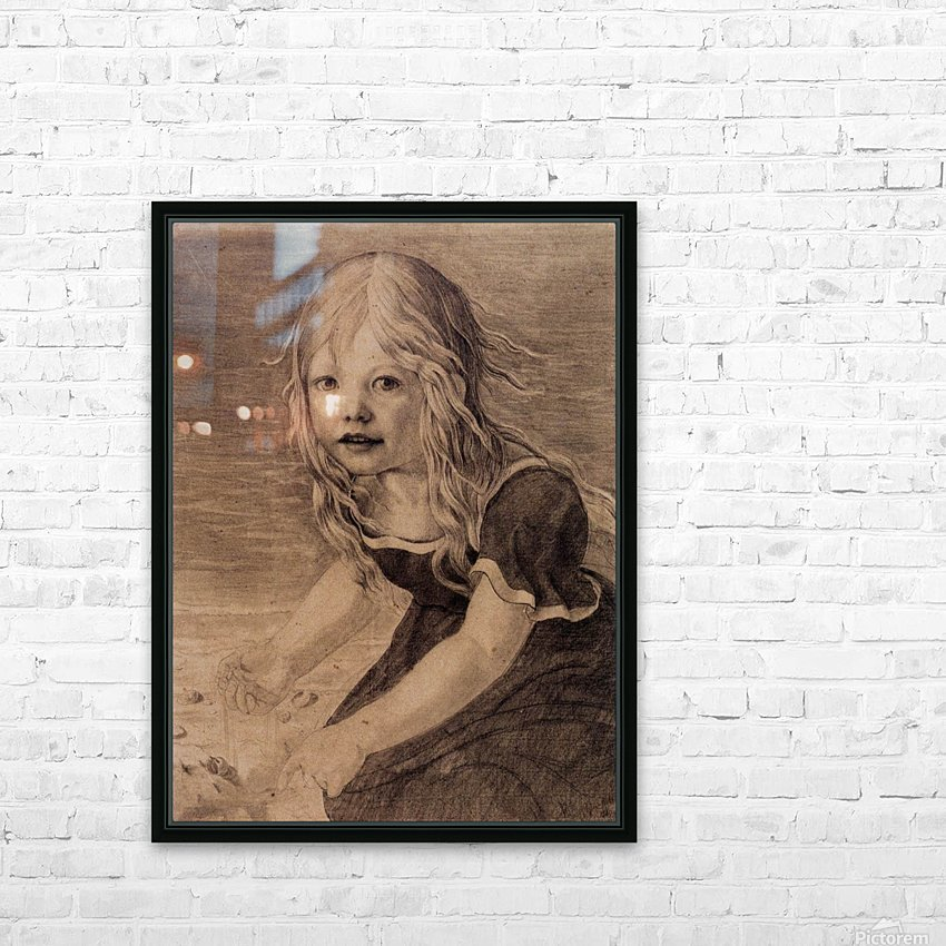 Portrait of the Artists Daughter Marie HD Sublimation Metal print with Decorating Float Frame (BOX)