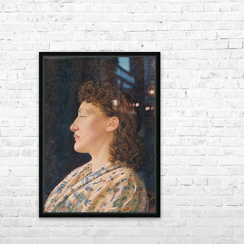 A Girl's Portrait HD Sublimation Metal print with Decorating Float Frame (BOX)
