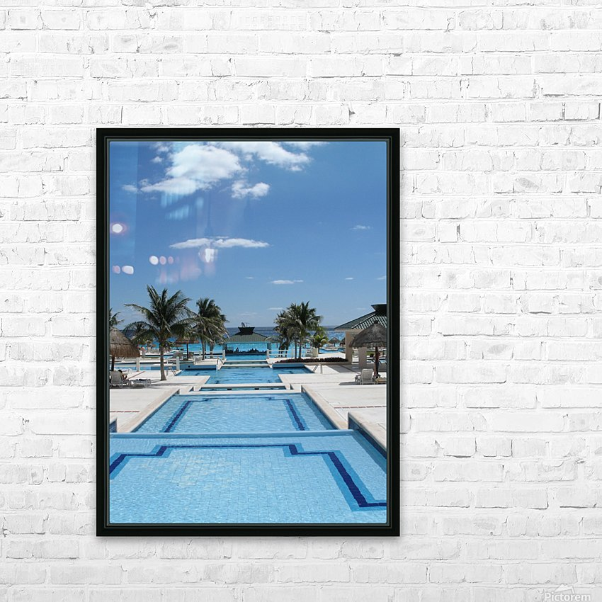 Infinity Pool HD Sublimation Metal print with Decorating Float Frame (BOX)