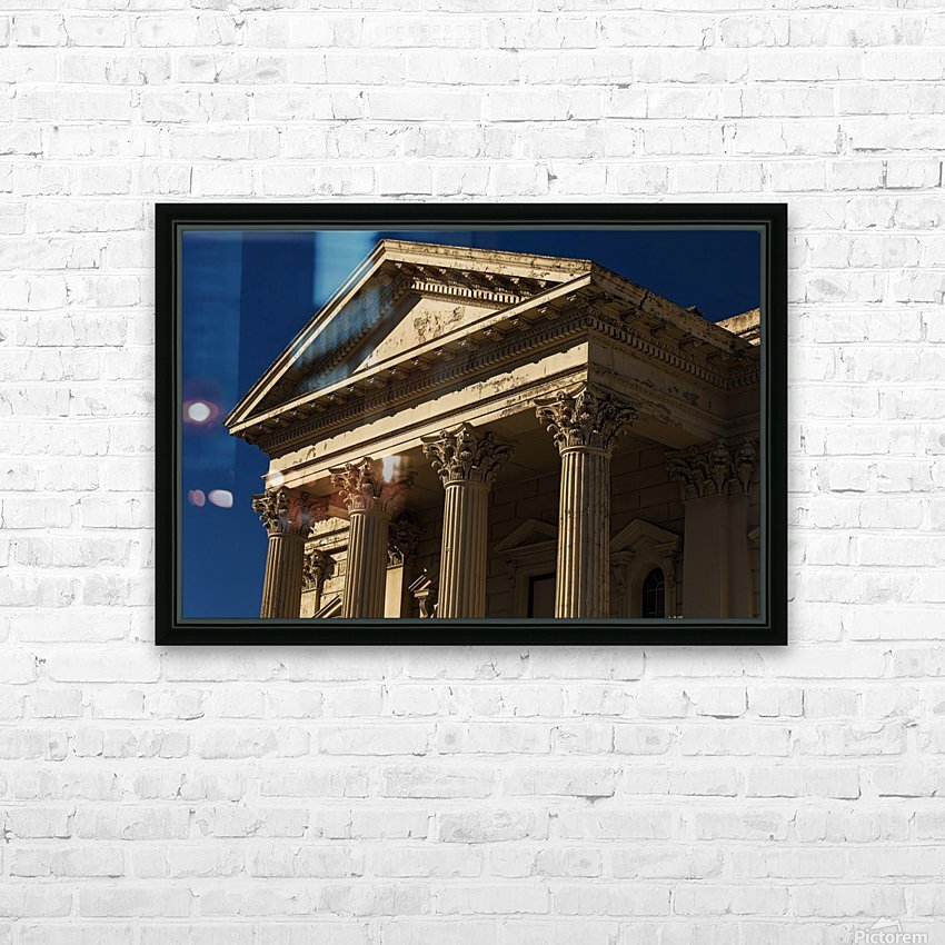 Old Building with Corinthian Pillars and Blue Sky HD Sublimation Metal print with Decorating Float Frame (BOX)