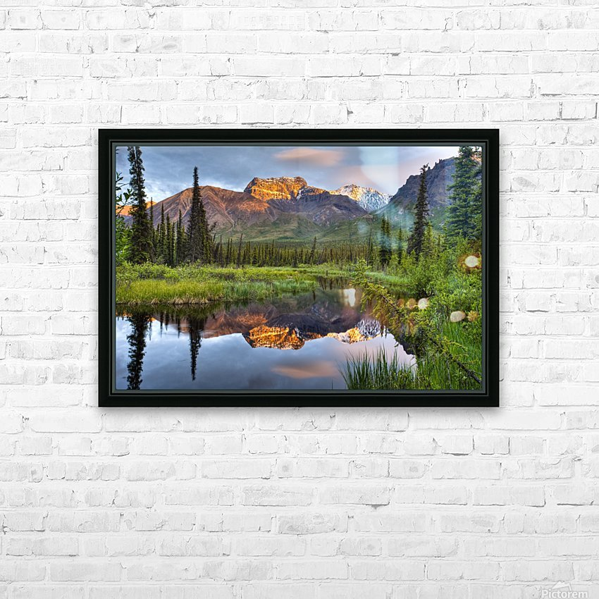 Reflection Of Skookum Volcano HD Sublimation Metal print with Decorating Float Frame (BOX)