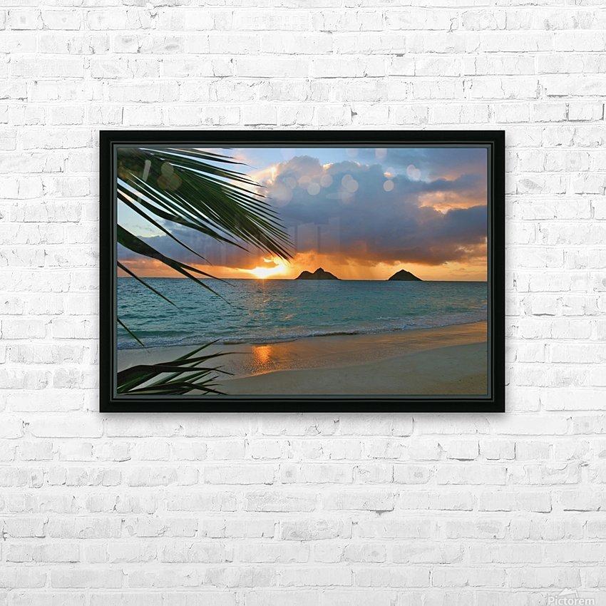 sunrise at Lanikai beach HD Sublimation Metal print with Decorating Float Frame (BOX)