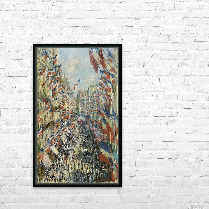 Monet - The Rue Montorgueil in Paris HD Sublimation Metal print with Decorating Float Frame (BOX)