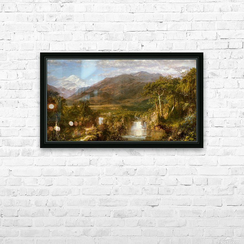 The Heart of the Andes HD Sublimation Metal print with Decorating Float Frame (BOX)