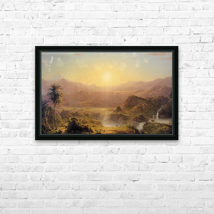 The Andes of Ecuador HD Sublimation Metal print with Decorating Float Frame (BOX)