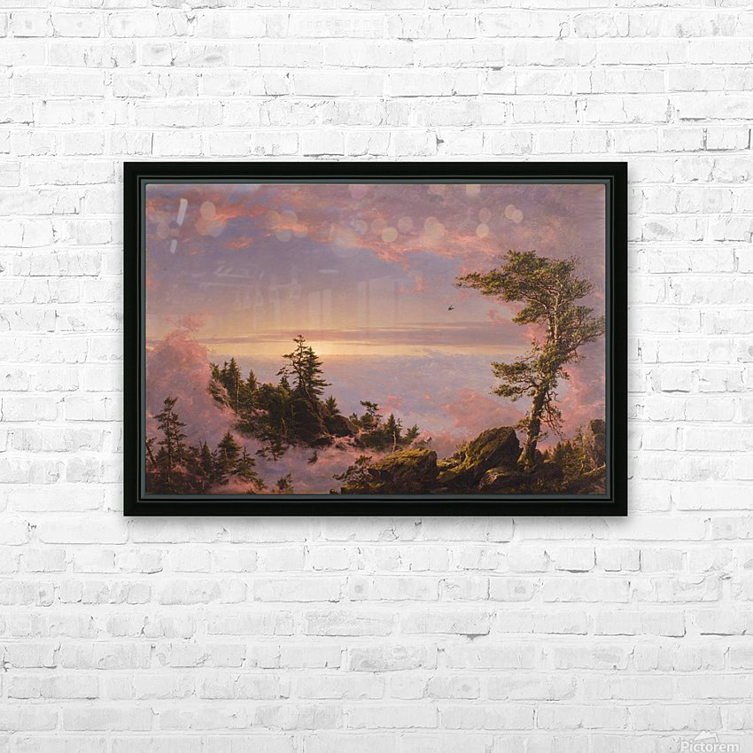 Church Above the Clouds HD Sublimation Metal print with Decorating Float Frame (BOX)