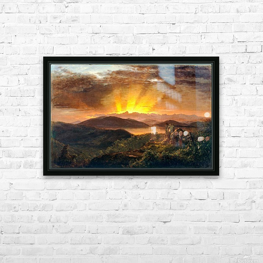Sunrise on a valey HD Sublimation Metal print with Decorating Float Frame (BOX)
