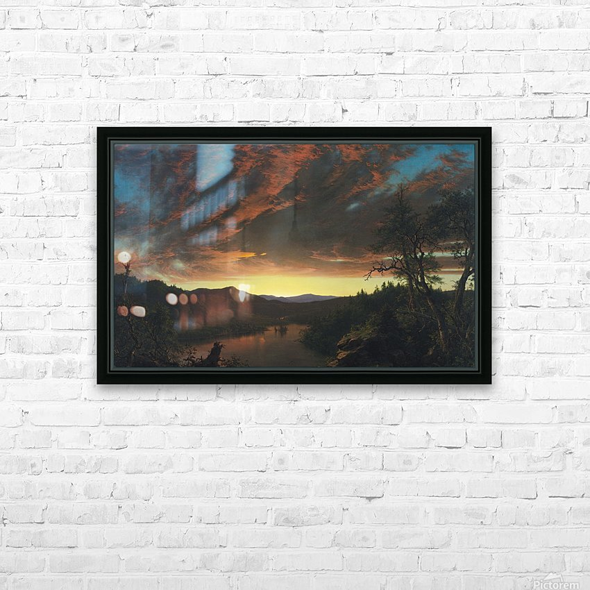 Twilight in the Wilderness HD Sublimation Metal print with Decorating Float Frame (BOX)