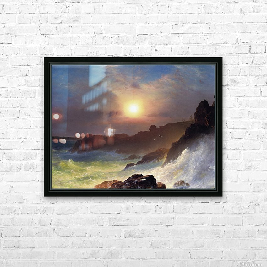 Hudson river school at Twilight HD Sublimation Metal print with Decorating Float Frame (BOX)