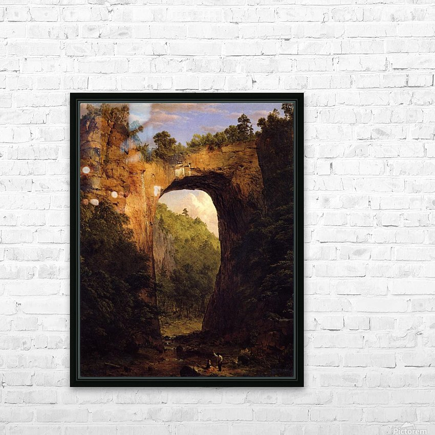 The Natural Bridge, Virginia HD Sublimation Metal print with Decorating Float Frame (BOX)