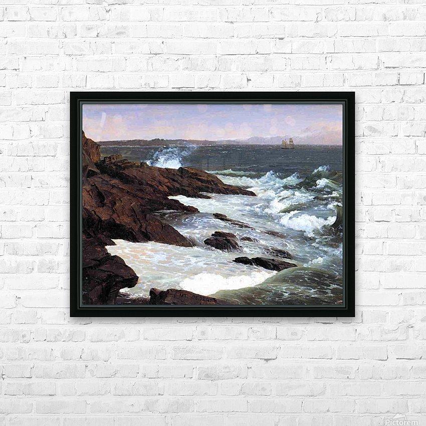Fog off Mount Desert 1850 HD Sublimation Metal print with Decorating Float Frame (BOX)