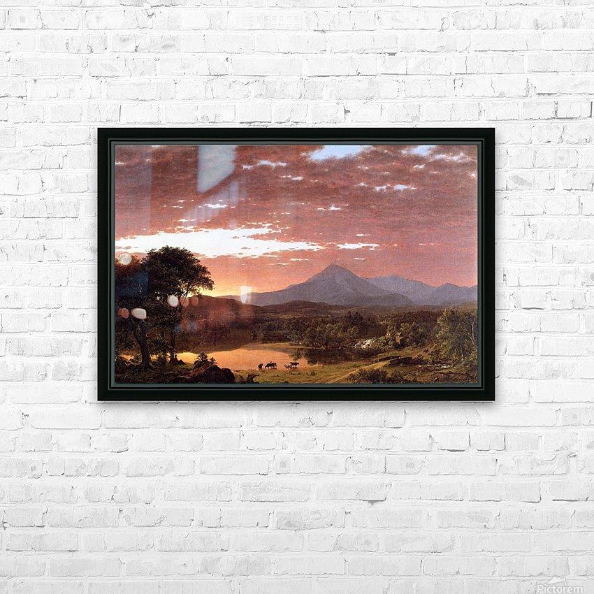 Mount Ktaadn aka Mount Katahdin 1853 HD Sublimation Metal print with Decorating Float Frame (BOX)