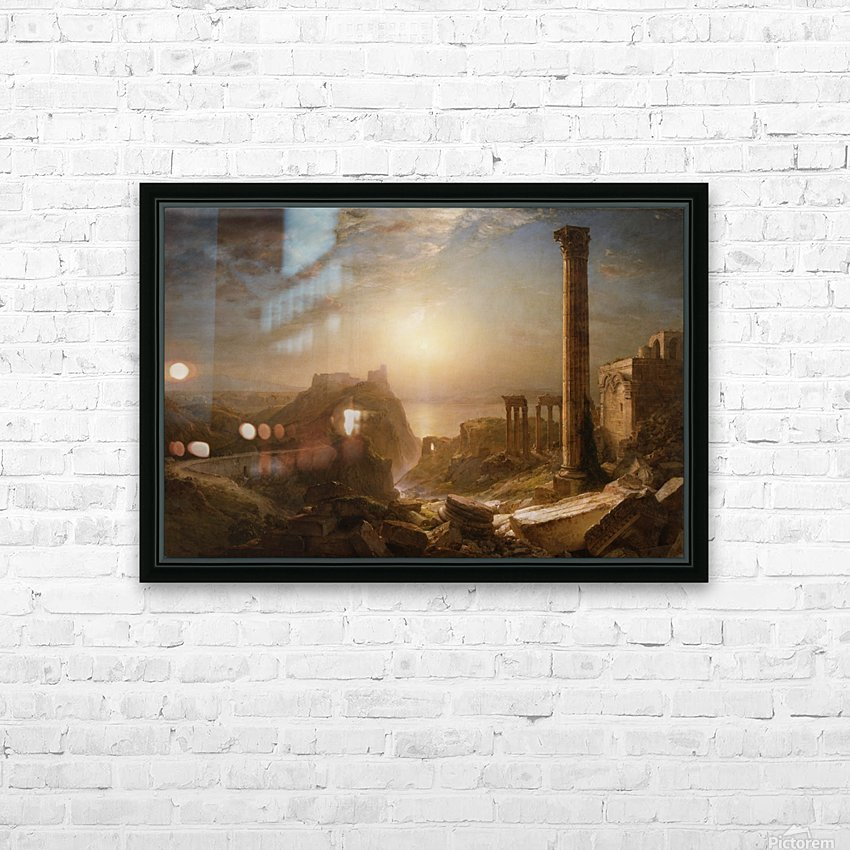 1873 Syria by the Sea HD Sublimation Metal print with Decorating Float Frame (BOX)