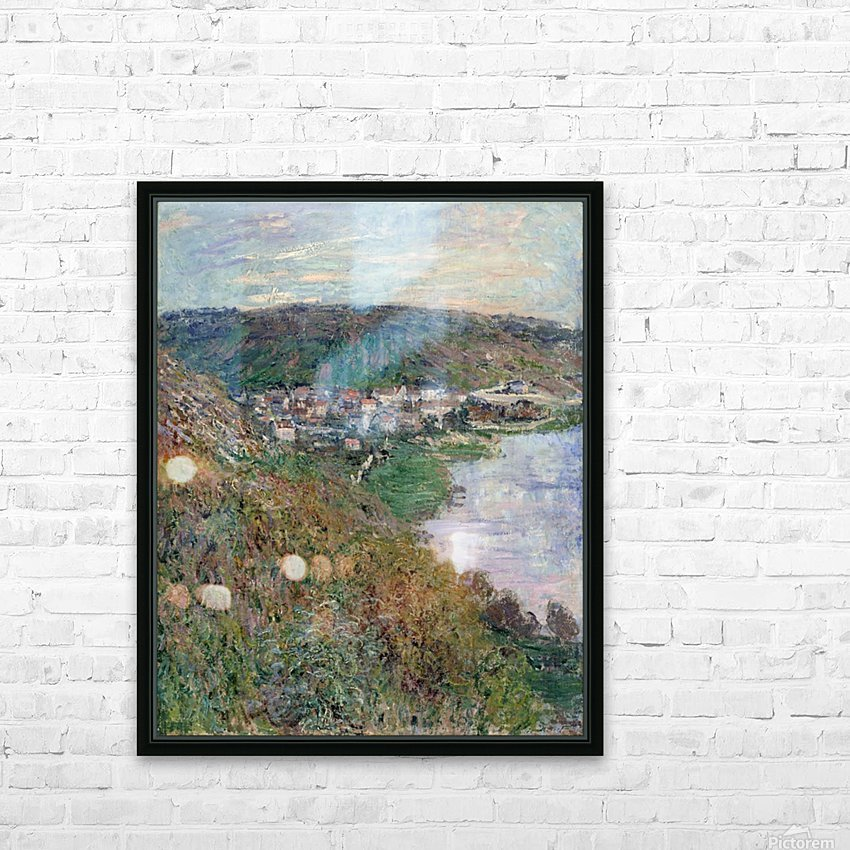 Monet - View of Vetheuil HD Sublimation Metal print with Decorating Float Frame (BOX)