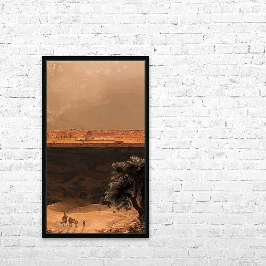 Jerusalem HD Sublimation Metal print with Decorating Float Frame (BOX)