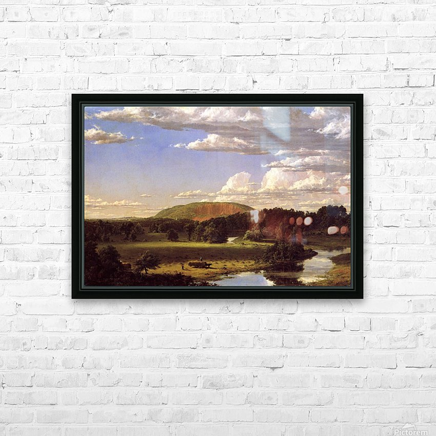 West Rock New Haven 1849 HD Sublimation Metal print with Decorating Float Frame (BOX)