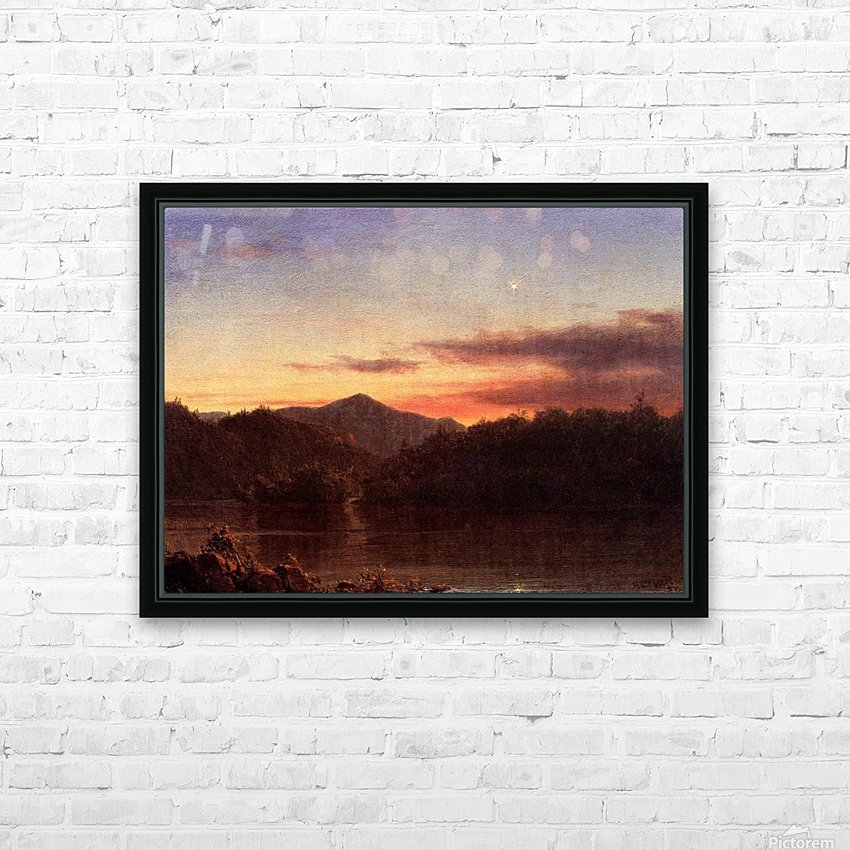 The Evening Star 1859 HD Sublimation Metal print with Decorating Float Frame (BOX)
