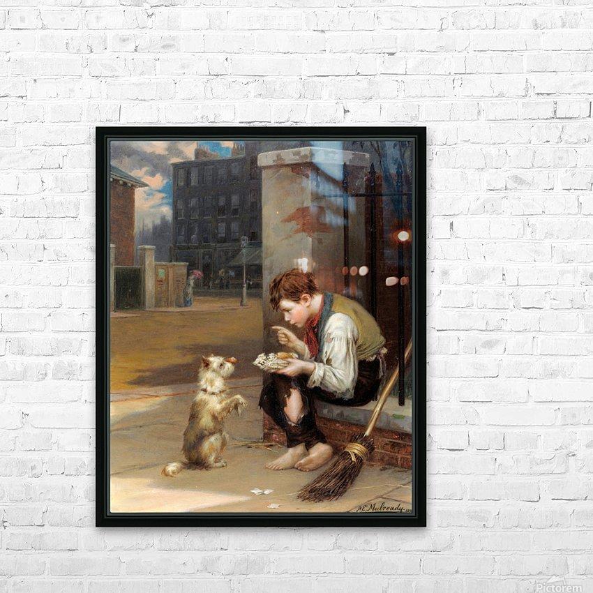 Training a small dog HD sublimation métal imprimé avec décoration flotteur cadre (boîte)