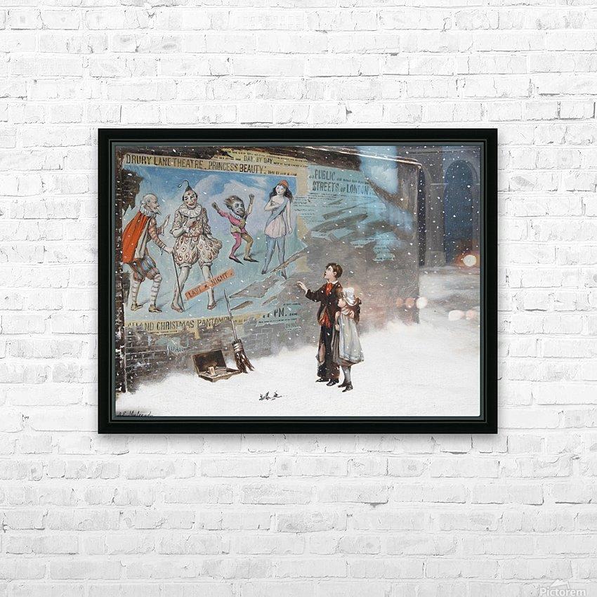 Watching a theatre poster HD sublimation métal imprimé avec décoration flotteur cadre (boîte)
