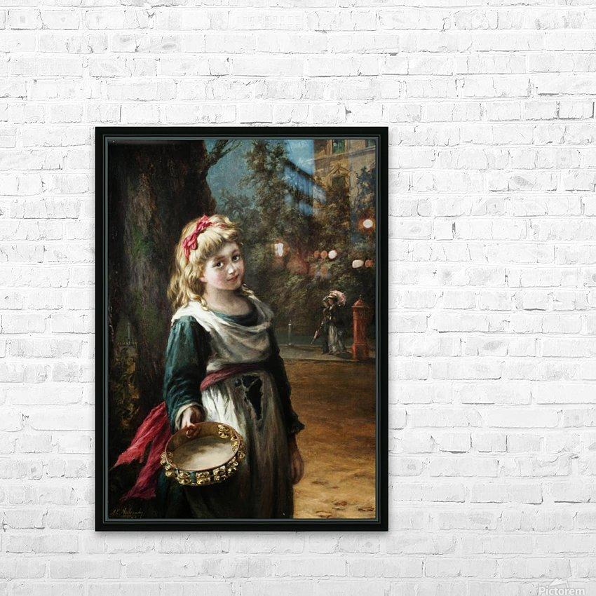 A young blonde girl HD sublimation métal imprimé avec décoration flotteur cadre (boîte)