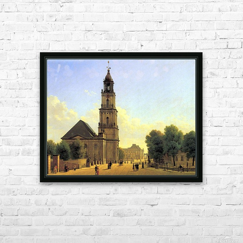 Garnisonkirche Potsdam 1827 HD Sublimation Metal print with Decorating Float Frame (BOX)