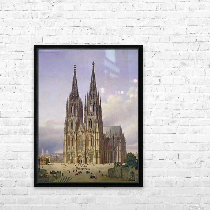Idealansicht des Kolner Doms HD Sublimation Metal print with Decorating Float Frame (BOX)