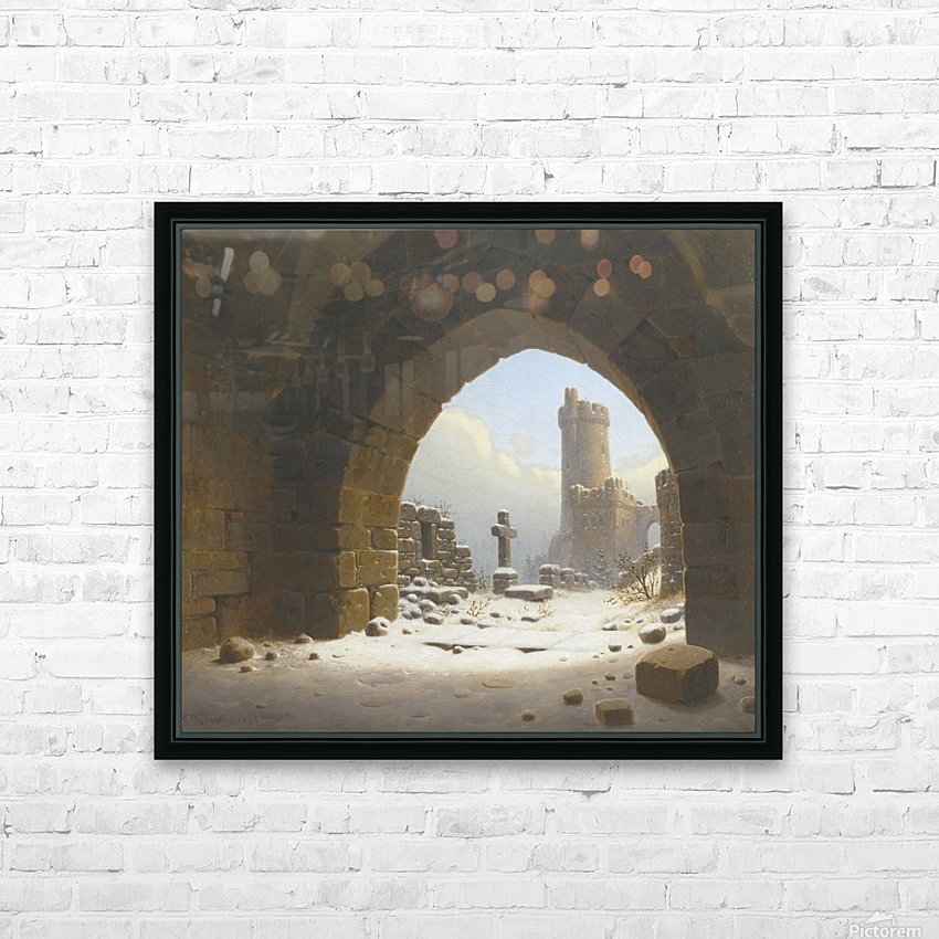 Ruins on the edge of the city HD Sublimation Metal print with Decorating Float Frame (BOX)