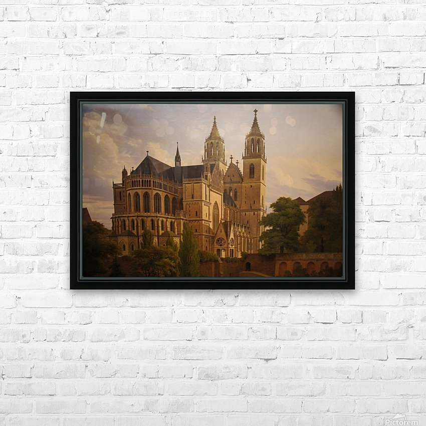 Magdeburger Dom 1828 HD Sublimation Metal print with Decorating Float Frame (BOX)