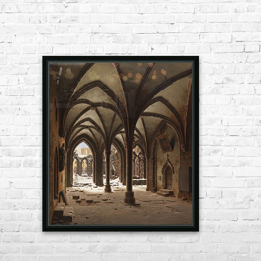 Die Ruine des Klosters Walkenried im Winter HD Sublimation Metal print with Decorating Float Frame (BOX)