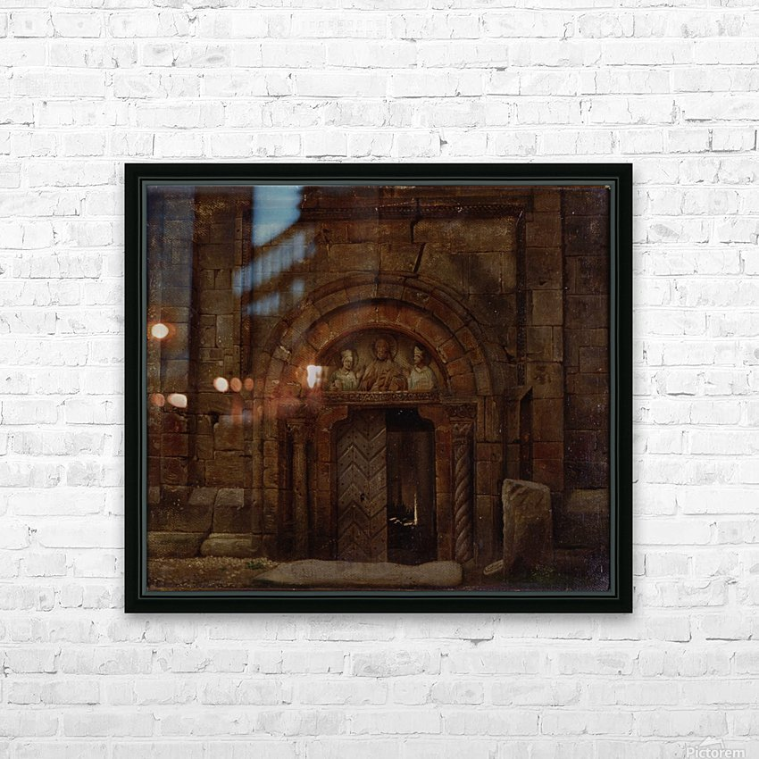 Nordwestportal der Godehardikirche HD Sublimation Metal print with Decorating Float Frame (BOX)