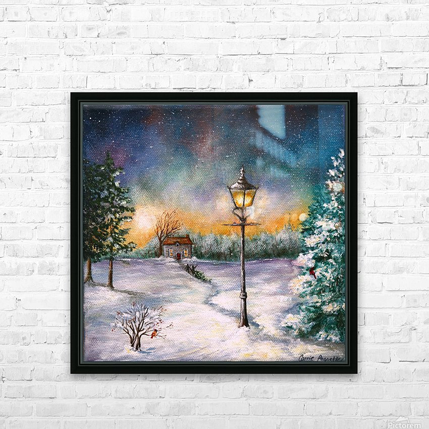 Light My Way HD Sublimation Metal print with Decorating Float Frame (BOX)