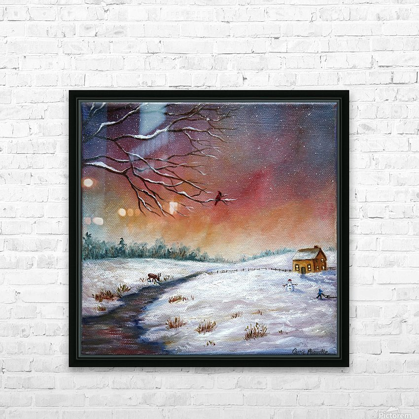 Coming Home HD Sublimation Metal print with Decorating Float Frame (BOX)