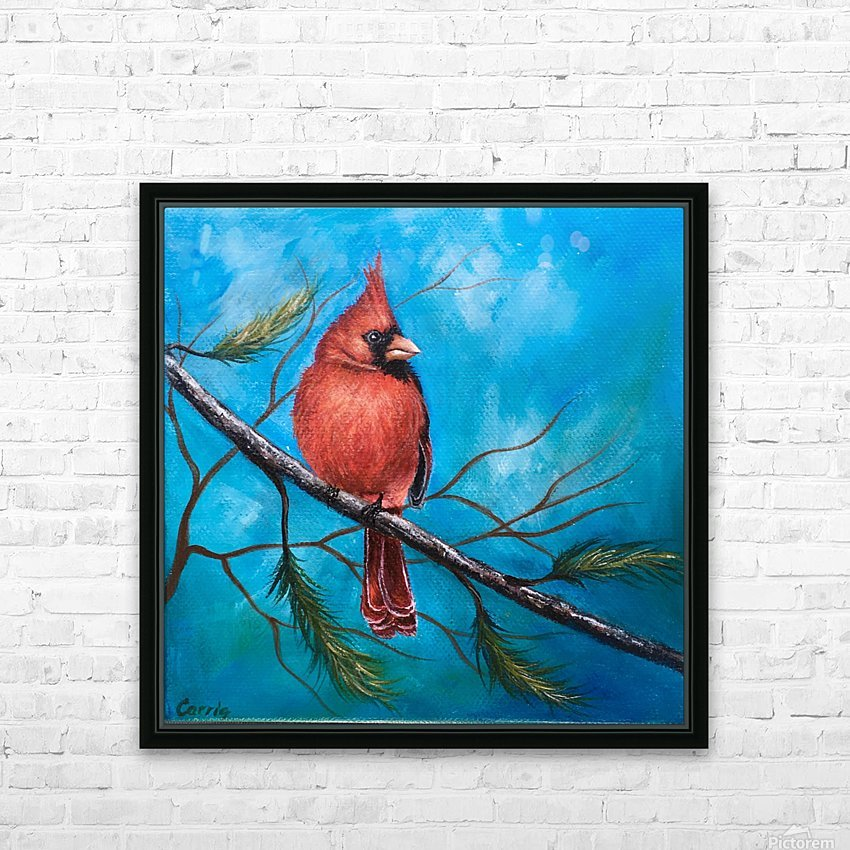 Mr. Cardinal HD Sublimation Metal print with Decorating Float Frame (BOX)