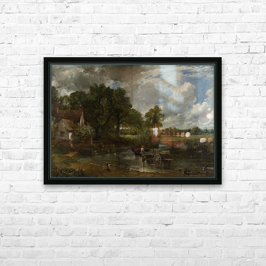 The Hay Wain HD Sublimation Metal print with Decorating Float Frame (BOX)