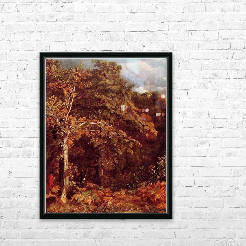 Wooded Landscape HD Sublimation Metal print with Decorating Float Frame (BOX)