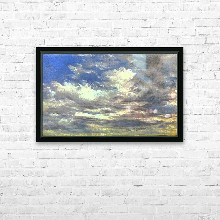 Cloud Study HD Sublimation Metal print with Decorating Float Frame (BOX)