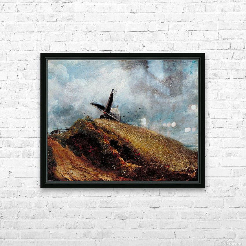 A Windmill near Brighton HD Sublimation Metal print with Decorating Float Frame (BOX)